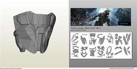 papercraft pdo file template  halo  masterchief