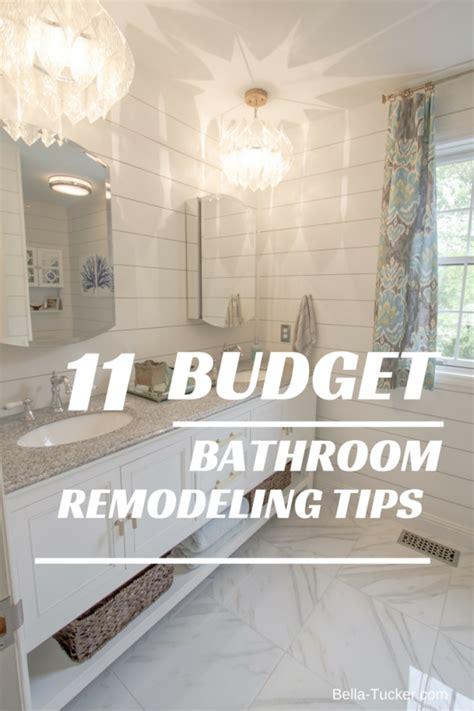bathroom remodeling   budget bella tucker decorative