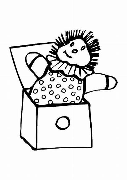 Box Coloring Jack Ball Clipart Inside Pages
