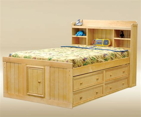 size bed frame with headboard bedroom espresso captain size bed with 12 drawers