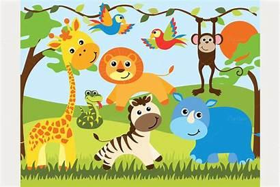 Safari Animals Clipart Animal Clip Zoo Jungle