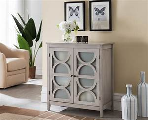 Pasco, Wash, Gray, Wood, Contemporary, Entryway, Console, Table, With, Frosted, Glass, Cabinet, Doors