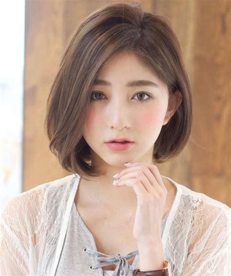 cute short bob hairstyles   japanese  korean