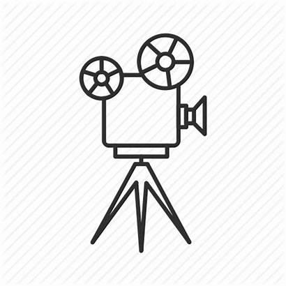 Projector Film Icon Drawing Clip Clipart Tripod