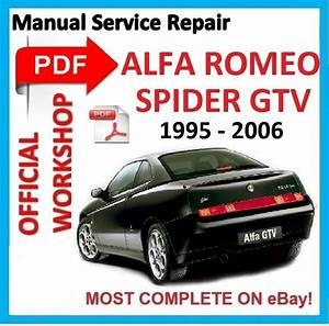 Official Workshop Manual Service Repair For Alfa Romeo Spider Gtv 1995