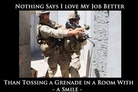 Usmc Memes - with a smile frag em memes pinterest military marines and ems