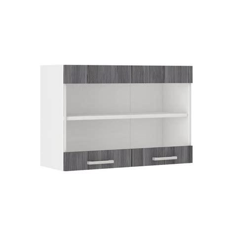 meuble haut cuisine 80 cm ultra meuble haut de cuisine l 80 cm décor chêne gris