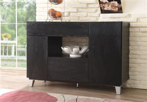 Furniture Of America Lily Black Finish Dining Storage Buffet