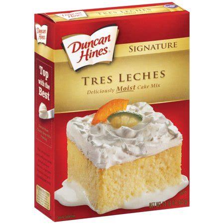 duncan hines signature cake mix tres leches  oz