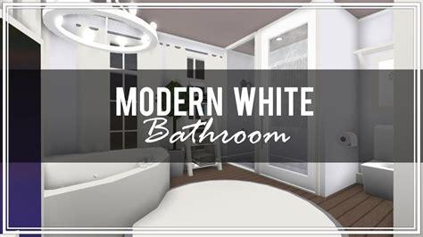 roblox   bloxburg modern white bathroom