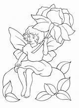 Coloring Colorare Fairy Flower Disegni Under Fata Flor Fada Colorear Fiore Blumen Elfen Hada Fairies Sotto Fadas Malvorlagen Fate Colorkid sketch template