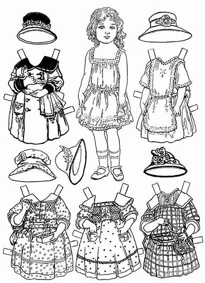 Doll Paper Coloring Pages Printable