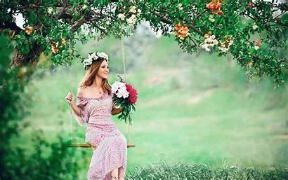 Flower Blossom Swing Mood Backgrounds Wallpapers Desktop