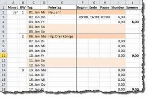 Arbeitsstunden Berechnen Pro Monat : pia bork excel ~ Themetempest.com Abrechnung