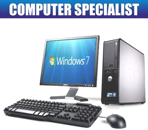 pc de bureau avec windows 7 complet dell dual tour bureau pc tft ordinateur
