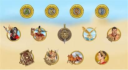 Gladiator Symbols Gor Machine Slot Rome Characters