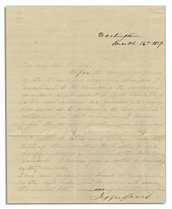 lot detail jefferson davis manuscript letter signed With autograph letters