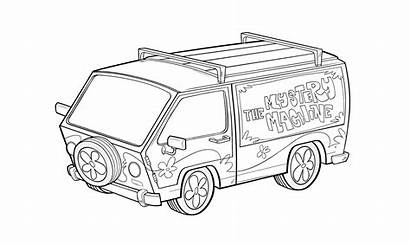 Mystery Coloring Pages Scooby Doo Machine Development