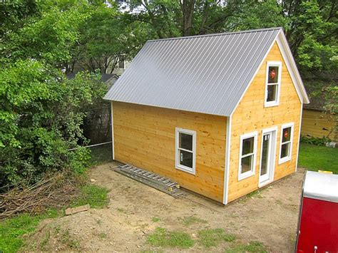 Small Backyard Guest House Plans Storage Building Turned