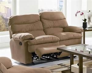 Light brown microfiber modern reclining sofa for Light brown microfiber sectional sofa