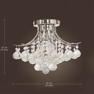 Chrome finish crystal chandelier with lights mini style