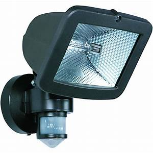 wickes halogen professional floodlight with pir 400w r7s With outdoor sensor lights wickes