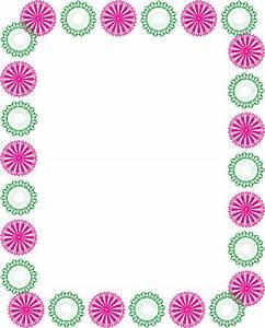 Green and pink clipart circle border design 2016 | border ...