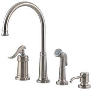 4 kitchen faucets price pfister gt26 4ypk ashfield 4 kitchen faucet with sidespray and matching soap