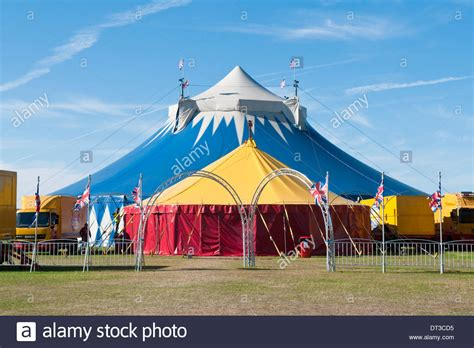 brightly coloured big top tents   gerry cottle