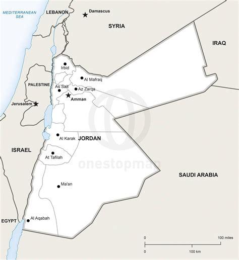 vector map  jordan political  stop map