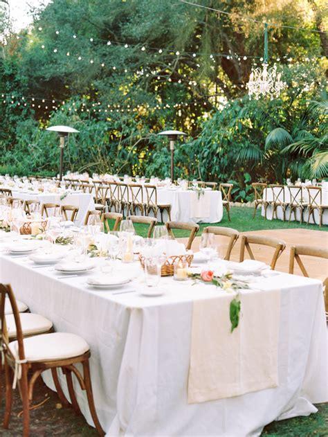 elegant outdoor montecito wedding  wed