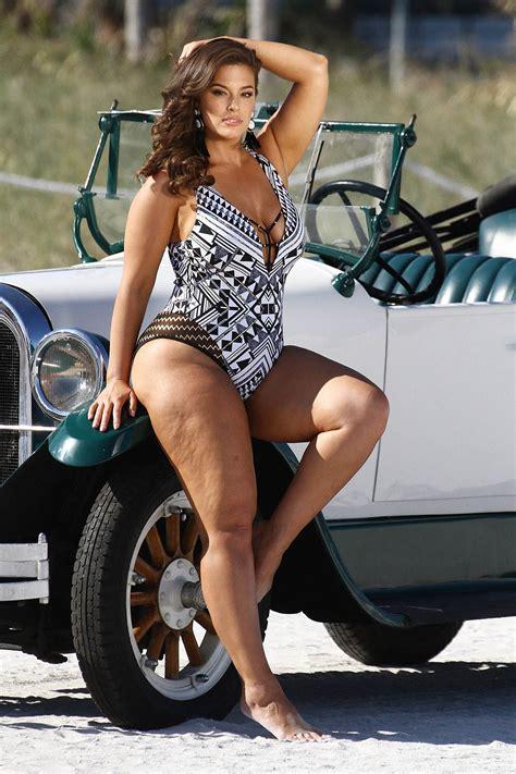 ashley graham swimsuit photo shoot  miami sandra rose