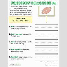 Pronoun Practice  2nd Grade Grammar Worksheets Educationcom