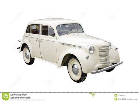 White Classic Car Royalty Free Stock Photo