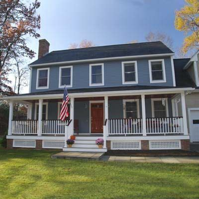 Colonial Front Porch Designs by Best Curb Appeal Before And Afters 2010 Home Improvement