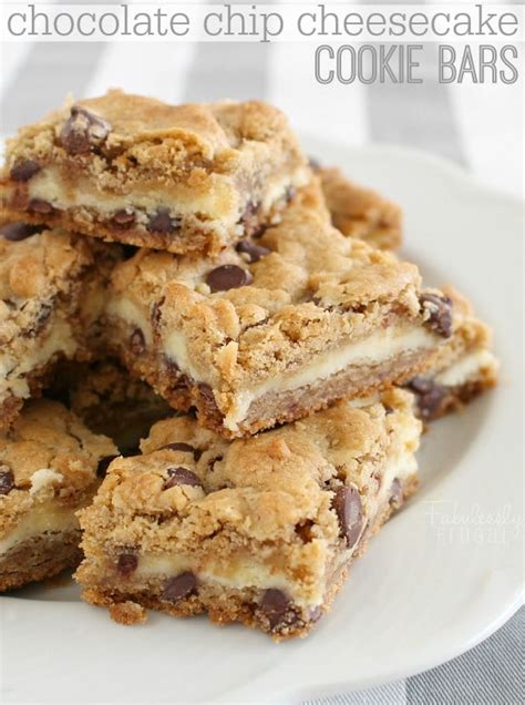 chocolate chip cheesecake bars recipe fabulessly frugal
