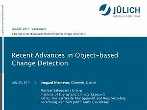 Recent Advances In Object Based Change Detectionpdf