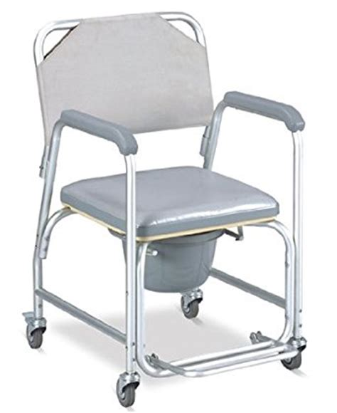 shower chair with wheels padded seat commode