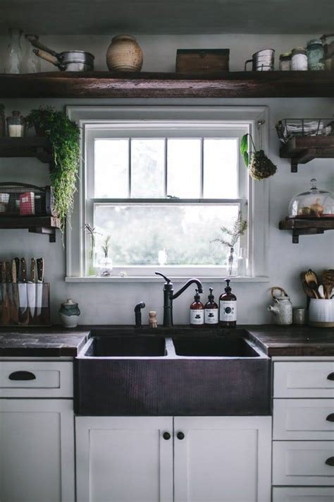gorgeous kitchen open shelving   inspire