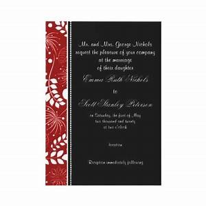 66 best images about color combo black red and white on With michaels red wedding invitations