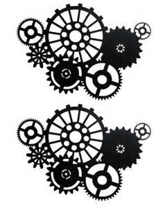 Steampunk Gear Silhouette Clip Art