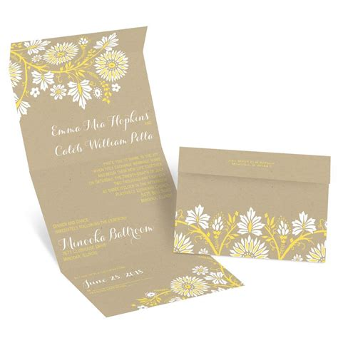 prairie floral seal  send invitation invitations  dawn