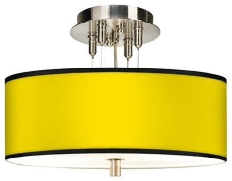 yellow drum l shade brushed steel all yellow drum shade ceiling light