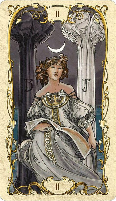 high priestess tarot mucha art nouveau pinterest