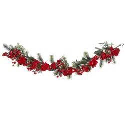 6 foot holiday hydrangea garland christmas garland at hayneedle