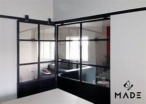 Porte Coulissante Angle Droit : verriere d 39 angle coulissante verriere home study rooms ~ Melissatoandfro.com Idées de Décoration