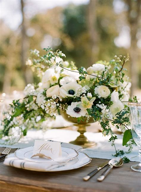 sophisticated wedding inspiration floral centerpieces