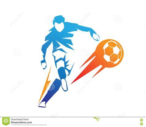 modern soccer player  action logo ball  fire penalty