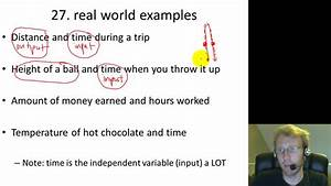 Algebra 1 Real World Examples of Functions - YouTube