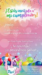 Invitaciones, De, Cumplea, U00f1os, U00ab, Pola, Park
